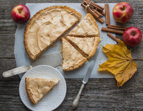 Apple pie with meringue Royalty Free Stock Photo