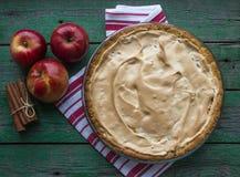 Apple pie with meringue Stock Photo