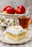 Apple pie with meringue topping Stock Images