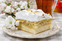 Apple pie with meringue topping Stock Photos