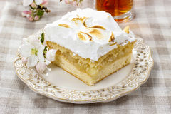 Apple pie with meringue topping Royalty Free Stock Photo