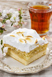 Apple pie with meringue topping Royalty Free Stock Photography