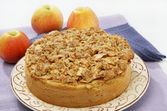 Apple pie with nuts Royalty Free Stock Image