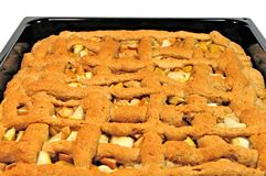 Apple Pie. In the pan, close-up isolated Royalty Free Stock Image