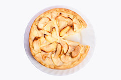 Apple pie on a plate Royalty Free Stock Photos