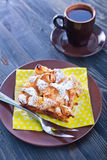 Apple pie on plate Stock Photo