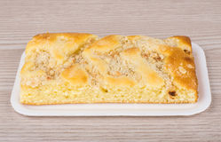 Apple pie in polyfoam tray Royalty Free Stock Photography