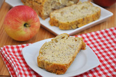 Apple pie with poppy seed Stock Image