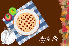 Apple pie is ready to be tasted Stock Photo