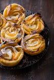 Apple pie roses stock photography
