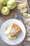Apple pie on rustic wooden background Royalty Free Stock Image