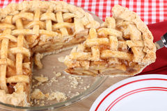 Apple Pie Serving Stock Photo