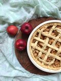 Apple pie shortcrust pastry Stock Photography