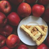 Apple pie shortcrust pastry Stock Image