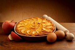 Apple pie with slice apple Royalty Free Stock Images