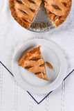 Apple Pie Slice High Angle Stock Images