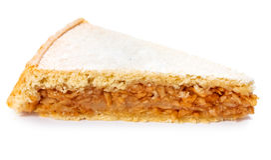 Apple pie slice on white Stock Photos