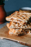Apple pie. Sliced in layers. Yekaterinburg royalty free stock photo