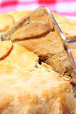 Apple pie slicing outdoor 3 Royalty Free Stock Photography