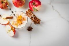 Apple pie smoothie Stock Images