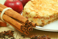Apple pie with spices Royalty Free Stock Images