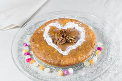Apple pie sprinkled with powdered sugar and cinnamon. Royalty Free Stock Photography