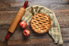 Apple Pie Still Life Stock Images