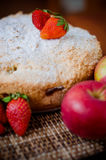 Apple pie with strawberries Royalty Free Stock Images
