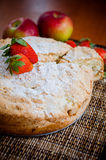 Apple pie with strawberries. And apples Stock Image