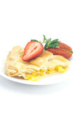Apple pie and strawberry Royalty Free Stock Photo