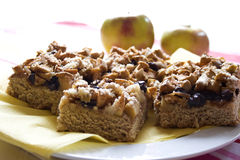 Apple pie with streusel Royalty Free Stock Photos