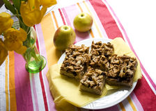 Apple pie with streusel Stock Photos