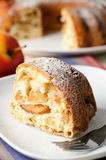Apple pie with sugar powder Royalty Free Stock Photography