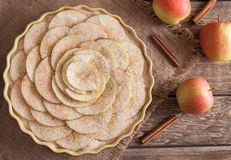 Apple pie traditional homemade sweet dessert with Royalty Free Stock Photo