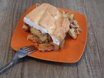 Apple pie Slovak food stock photo