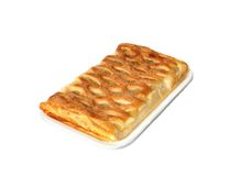 Apple pie on the tray. Isolated on white Royalty Free Stock Photos