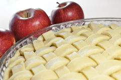 Apple pie, unbaked Royalty Free Stock Photos