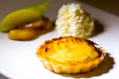 Apple pie and vanilla ice-cream Royalty Free Stock Photos