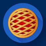 Apple Pie vector icon Flat designed style Royalty Free Stock Image