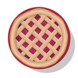 Apple pie vector illustration. Royalty Free Stock Photo