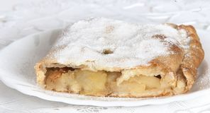 Apple pie (vienna strudel) Royalty Free Stock Photography