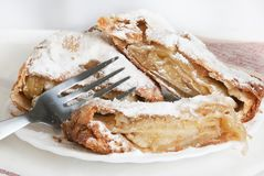 Apple pie (vienna strudel) Stock Photos