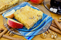 Apple pie with walnuts Royalty Free Stock Image
