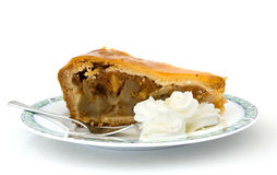 Apple pie with whipped cream Royalty Free Stock Photography