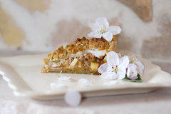 Apple Pie. With white background Royalty Free Stock Image