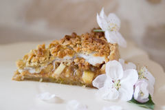 Apple Pie. With white background Royalty Free Stock Photography