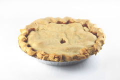 Apple pie on white Royalty Free Stock Images