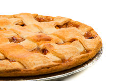 Apple Pie on a white background. A delicious Apple Pie on a white background royalty free stock image