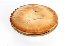 Apple pie on white backround Stock Image