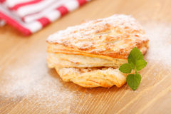 Apple pie on wooden board Royalty Free Stock Photography